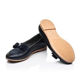 Детские туфли Woopy Fashion синие для девочек натуральный нубук и замша размер 38-38 (7040) Фото 2