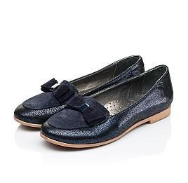 Детские туфли Woopy Fashion синие для девочек натуральный нубук и замша размер 35-40 (7040) Фото 3