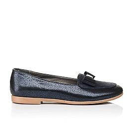Детские туфли Woopy Fashion синие для девочек натуральный нубук и замша размер 35-40 (7040) Фото 4
