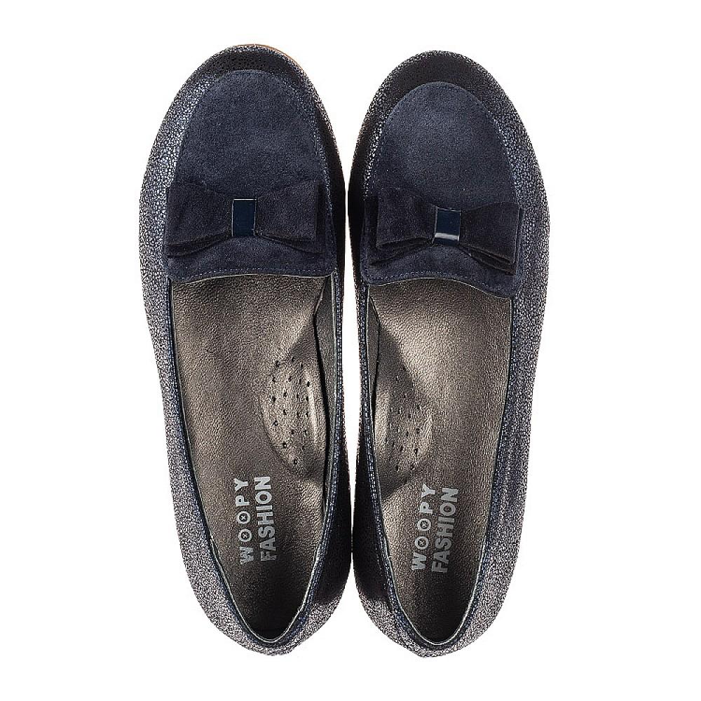 Детские туфли Woopy Fashion синие для девочек натуральный нубук и замша размер 35-40 (7040) Фото 5