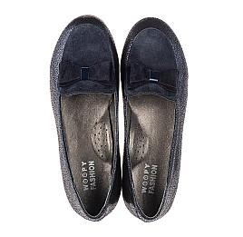Детские туфли Woopy Fashion синие для девочек натуральный нубук и замша размер 38-38 (7040) Фото 5