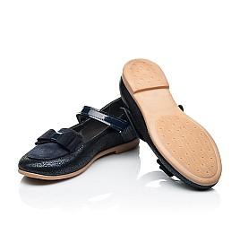 Детские туфли Woopy Fashion синие для девочек натуральный нубук и замша размер 30-34 (7041) Фото 2