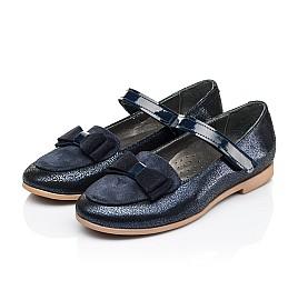 Детские туфли Woopy Fashion синие для девочек натуральный нубук и замша размер 30-34 (7041) Фото 3