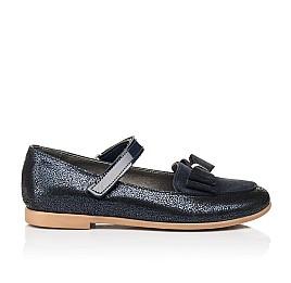 Детские туфли Woopy Fashion синие для девочек натуральный нубук и замша размер 30-34 (7041) Фото 4