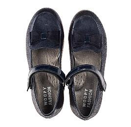 Детские туфли Woopy Fashion синие для девочек натуральный нубук и замша размер 30-34 (7041) Фото 5