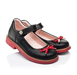 Детские туфли Woopy Orthopedic черные для девочек натуральные кожа и нубук размер 24-36 (7042) Фото 1