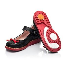 Детские туфли Woopy Orthopedic черные для девочек натуральные кожа и нубук размер 24-29 (7042) Фото 2