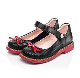 Детские туфли Woopy Orthopedic черные для девочек натуральные кожа и нубук размер 24-29 (7042) Фото 3