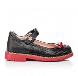Детские туфли Woopy Orthopedic черные для девочек натуральные кожа и нубук размер 24-29 (7042) Фото 4