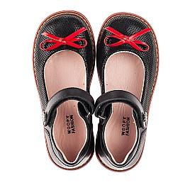 Детские туфли Woopy Orthopedic черные для девочек натуральные кожа и нубук размер 24-36 (7042) Фото 5