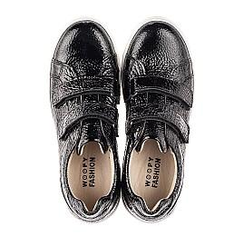 Детские кеды Woopy Fashion черные для девочек натуральная лаковая кожа размер 26-39 (7043) Фото 5