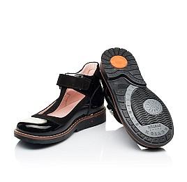 Детские туфли Woopy Orthopedic черные для девочек натуральная лаковая кожа размер 26-33 (7044) Фото 2