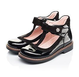 Детские туфли Woopy Orthopedic черные для девочек натуральная лаковая кожа размер 26-33 (7044) Фото 3