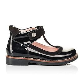 Детские туфли Woopy Orthopedic черные для девочек натуральная лаковая кожа размер 26-33 (7044) Фото 4