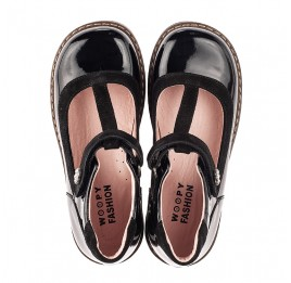 Детские туфли Woopy Orthopedic черные для девочек натуральная лаковая кожа размер 26-33 (7044) Фото 5