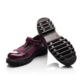 Детские туфли Woopy Fashion фиолетовые для девочек натуральная лаковая кожа и нубук размер 35-39 (7045) Фото 2