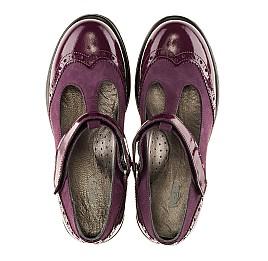 Детские туфли Woopy Fashion фиолетовые для девочек натуральная лаковая кожа и нубук размер 35-39 (7045) Фото 5