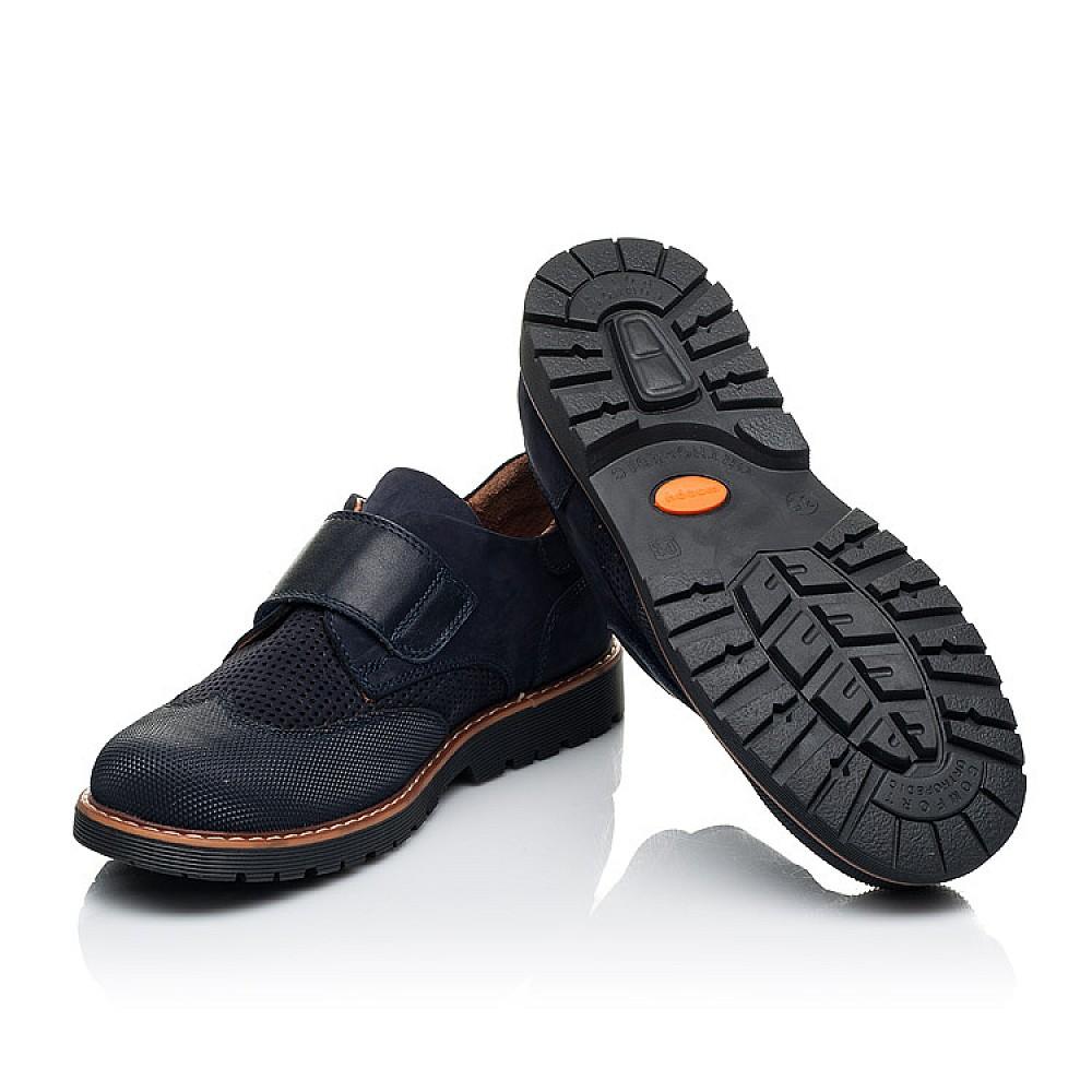 Детские туфли Woopy Orthopedic синие для мальчиков натуральный нубук размер 29-37 (7051) Фото 2