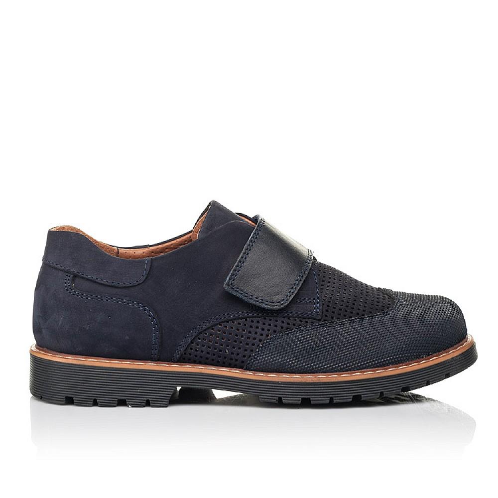 Детские туфли Woopy Orthopedic синие для мальчиков натуральный нубук размер 29-37 (7051) Фото 4