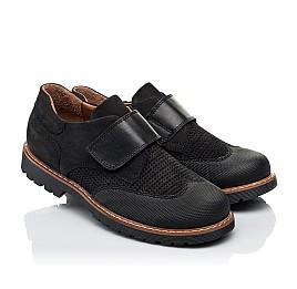 Детские туфли Woopy Orthopedic черные для мальчиков натуральный нубук размер 30-39 (7052) Фото 1