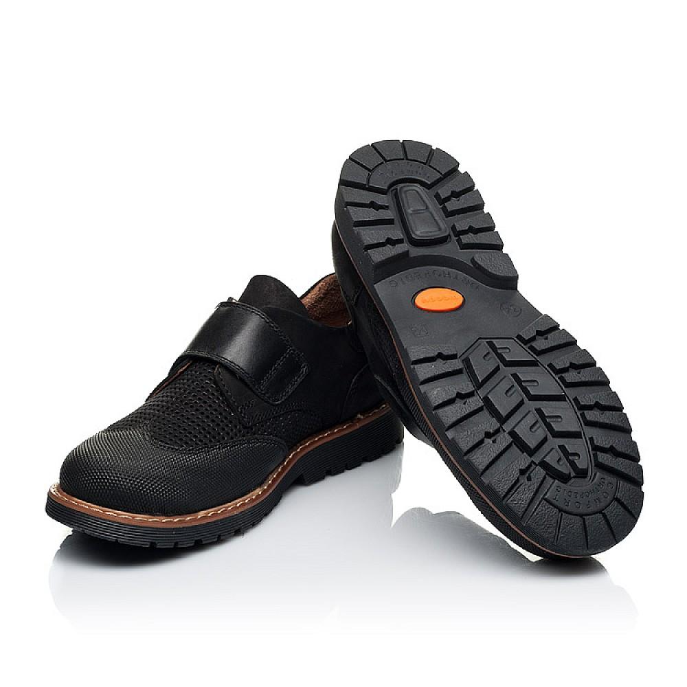 Детские туфли Woopy Orthopedic черные для мальчиков натуральный нубук размер 30-40 (7052) Фото 2
