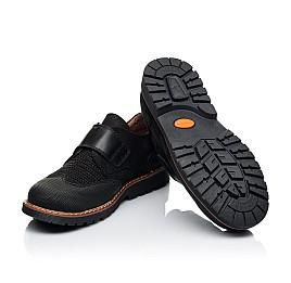 Детские туфли Woopy Orthopedic черные для мальчиков натуральный нубук размер 30-39 (7052) Фото 2