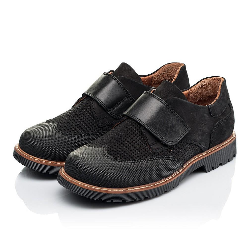 Детские туфли Woopy Orthopedic черные для мальчиков натуральный нубук размер 30-40 (7052) Фото 3