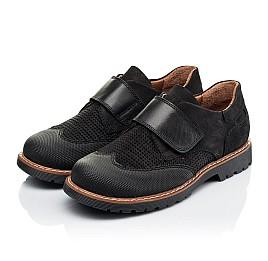 Детские туфли Woopy Orthopedic черные для мальчиков натуральный нубук размер 30-39 (7052) Фото 3