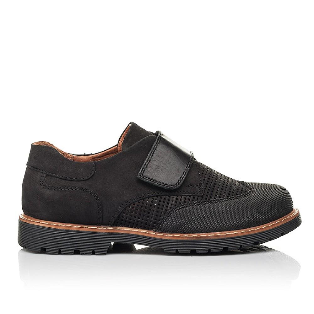 Детские туфли Woopy Orthopedic черные для мальчиков натуральный нубук размер 30-40 (7052) Фото 4