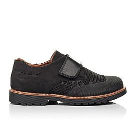Детские туфли Woopy Orthopedic черные для мальчиков натуральный нубук размер 30-39 (7052) Фото 4