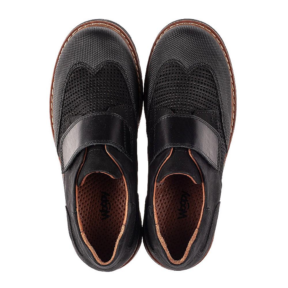 Детские туфли Woopy Orthopedic черные для мальчиков натуральный нубук размер 30-40 (7052) Фото 5