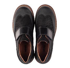 Детские туфли Woopy Orthopedic черные для мальчиков натуральный нубук размер 30-39 (7052) Фото 5