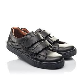 Детские кеды Woopy Fashion черные для девочек натуральная кожа размер 29-39 (7054) Фото 1