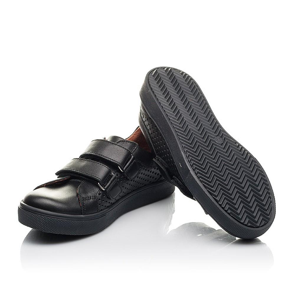 Детские кеды Woopy Fashion черные для девочек натуральная кожа размер 29-40 (7054) Фото 2