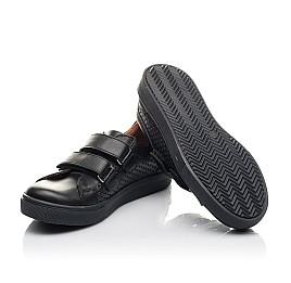 Детские кеды Woopy Fashion черные для девочек натуральная кожа размер 29-39 (7054) Фото 2
