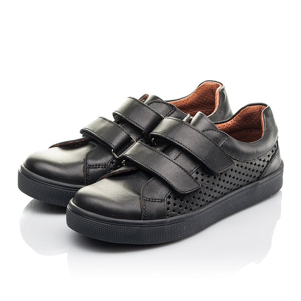 Детские кеды Woopy Fashion черные для девочек натуральная кожа размер 29-40 (7054) Фото 3