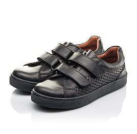 Детские кеды Woopy Fashion черные для девочек натуральная кожа размер 29-39 (7054) Фото 3
