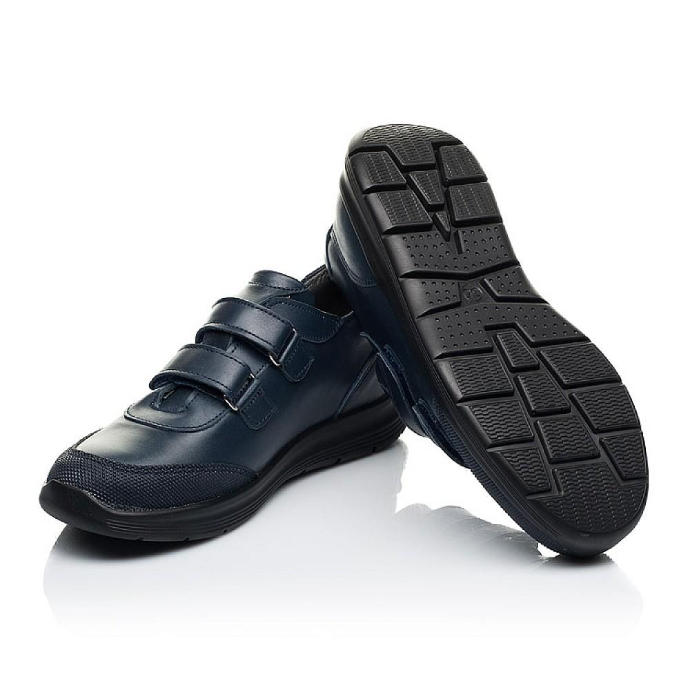Детские кроссовки Woopy Fashion синие для мальчиков натуральная кожа размер 30-36 (7056) Фото 2
