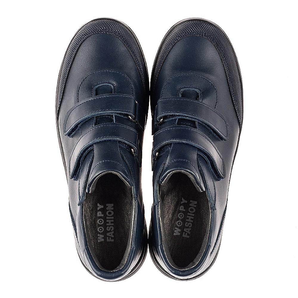 Детские кроссовки Woopy Fashion синие для мальчиков натуральная кожа размер 30-36 (7056) Фото 5
