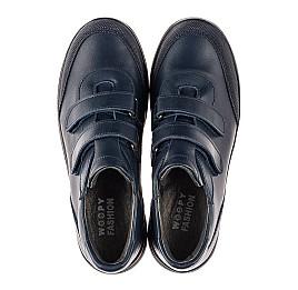 Детские кроссовки Woopy Fashion синие для мальчиков натуральная кожа размер 35-35 (7056) Фото 5
