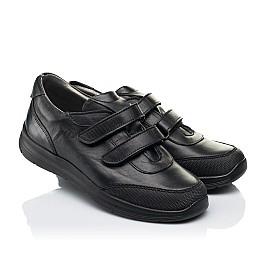 Детские кроссовки Woopy Fashion черные для мальчиков натуральная кожа размер 34-39 (7057) Фото 1