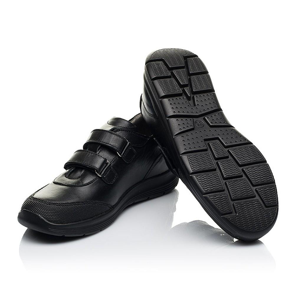 Детские кроссовки Woopy Fashion черные для мальчиков натуральная кожа размер 33-40 (7057) Фото 2