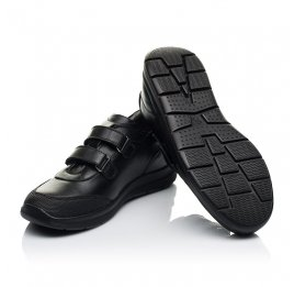 Детские кроссовки Woopy Fashion черные для мальчиков натуральная кожа размер 34-39 (7057) Фото 2