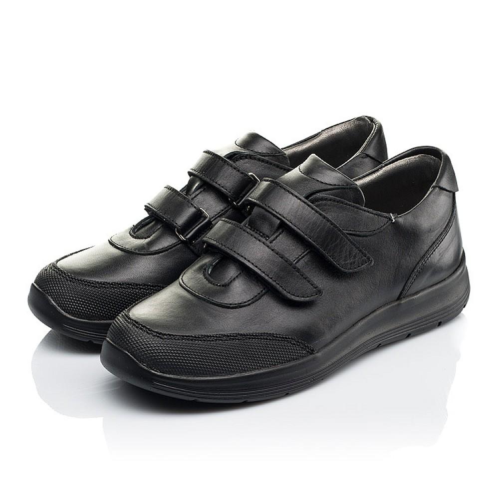 Детские кроссовки Woopy Fashion черные для мальчиков натуральная кожа размер 33-40 (7057) Фото 3