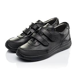 Детские кроссовки Woopy Fashion черные для мальчиков натуральная кожа размер 34-39 (7057) Фото 3