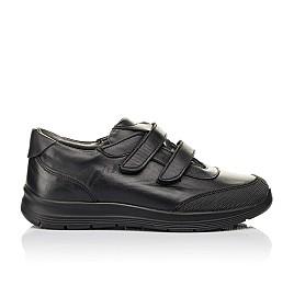 Детские кроссовки Woopy Fashion черные для мальчиков натуральная кожа размер 34-39 (7057) Фото 4