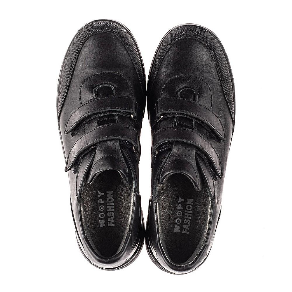 Детские кроссовки Woopy Fashion черные для мальчиков натуральная кожа размер 33-40 (7057) Фото 5