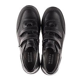Детские кроссовки Woopy Fashion черные для мальчиков натуральная кожа размер 34-39 (7057) Фото 5