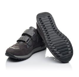Детские кроссовки Woopy Fashion серые для мальчиков натуральные кожа и нубук размер 26-37 (7058) Фото 2