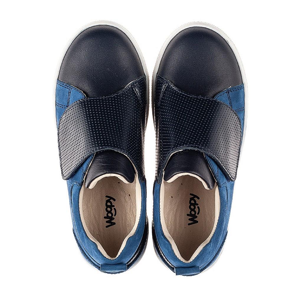 Детские кеды Woopy Fashion синие для мальчиков натуральные кожа и нубук размер 25-36 (7059) Фото 5